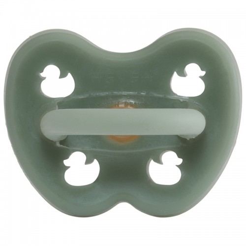 Hevea Orthodontic Pacifier Moss Green Natural Rubber