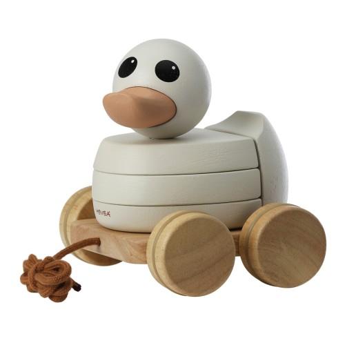 Hevea Kawan Ente Nachziehtier und Stapelspielzeug