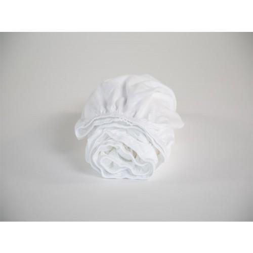 Spannbettlaken Kind Jersey Pure White