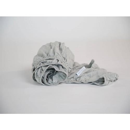 Spannbettlaken Kind Jersey White Grey