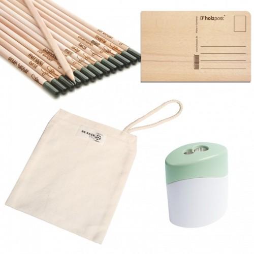 Holzpost – Nachhaltiges Schreibset Happy Day