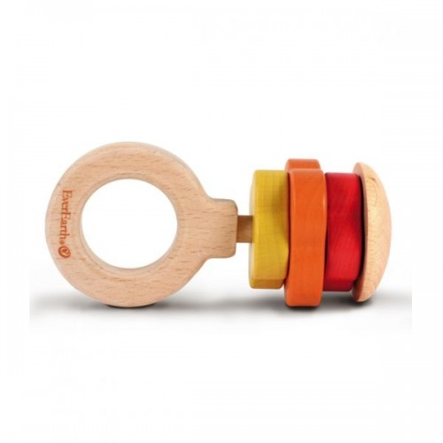 EverEarth Eco wooden Rattle & grasping ring - FSC® Wood