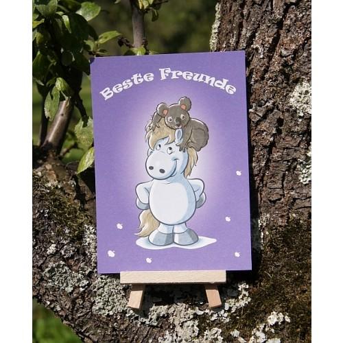 Postkarte - Mit Herz und Huf - Freund