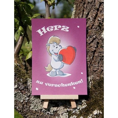 Postkarte - Mit Herz und Huf - Herz