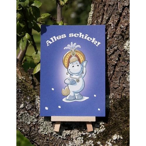 Postkarte - Mit Herz und Huf - Schick
