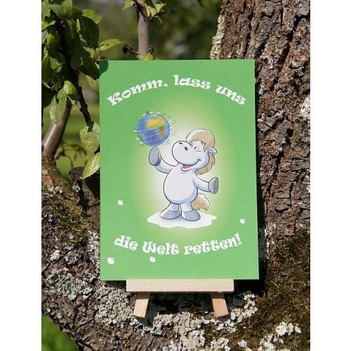 Postkarte - Mit Herz und Huf - Welt retten