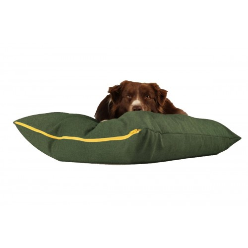 Sustainable dog pillow green | naftie