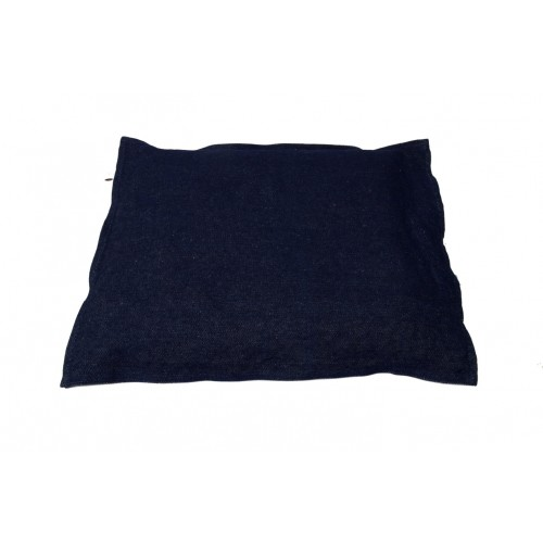 Ergonomic dog pillow of organic hemp denim by Unique Dog