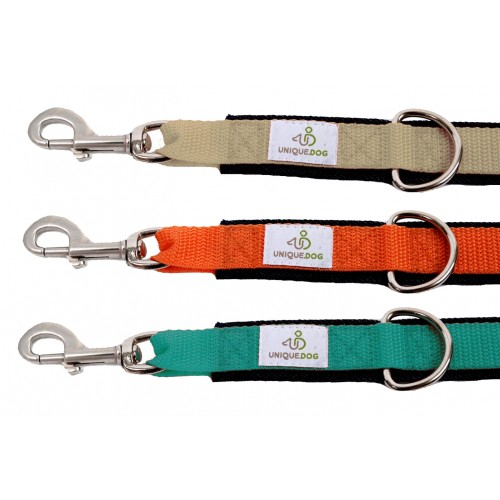 Dog Leash of Eco Denim with Webbing & Carabiner