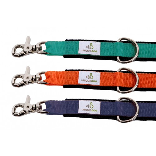 Dog Leads of Organic Denim with webbing & scissor carabiner
