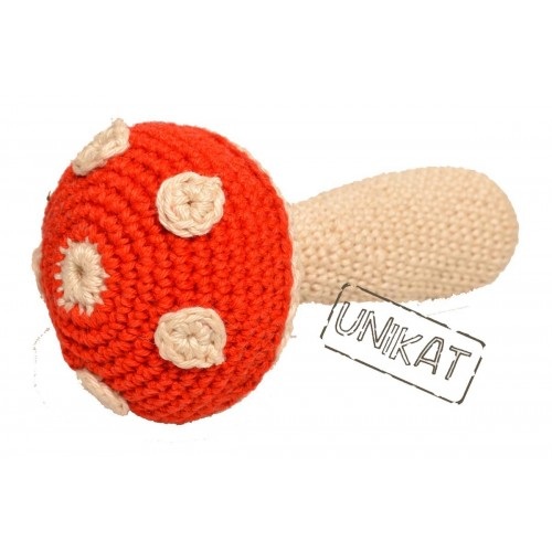 FLY AGARIC Dog toy crocheted Oeko Tex100 | Unique Dog