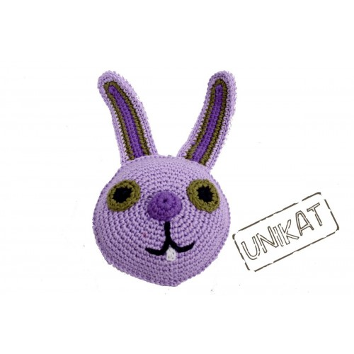 Eco Dog Toy crocheted BUNNY | Unique Dog