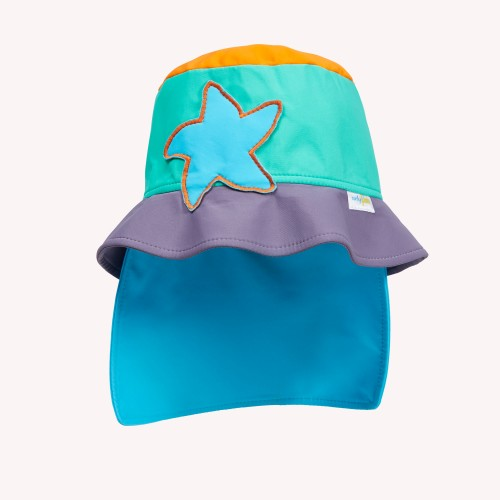 Kids Sunhat with neck guard & UV protection | early fish