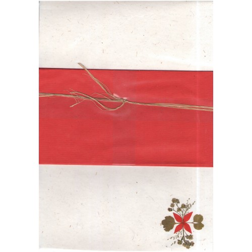 Writing Set Letterhead + red envelopes hand-made paper | Sundara