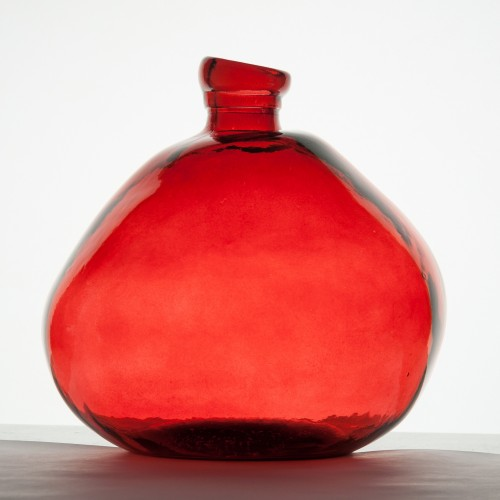 Organic red recycled glass Vase| Vidrios Reciclados San Miguel