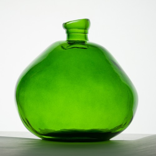 Good Vintage tall Vase Organic green | VSanmiguel