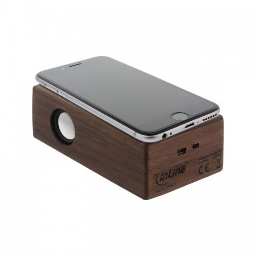 Induktionslautsprecher Walnuss-Holz – InLine® woodbrick