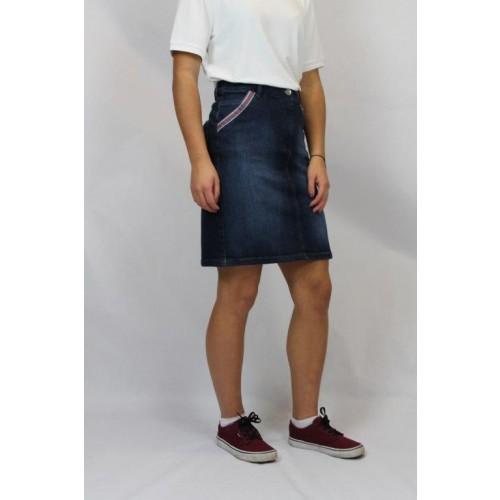 bloomers denim skirt, slight washout GOTS organic cotton