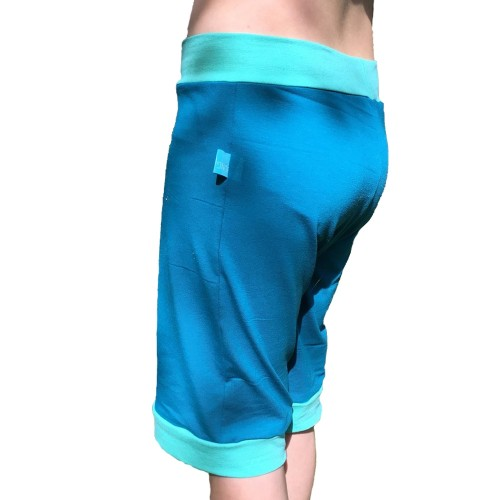 Pull-on Shorts Teal/Mint Eco Jersey for girls & boys | bingabonga