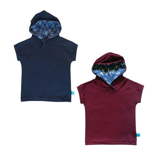 Kids Hooded T-Shirt CATS - organic cotton jersey | bingabonga