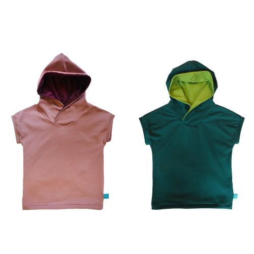 Eco Cotton Hooded T-Shirt PLAIN for girls & boys | bingabonga