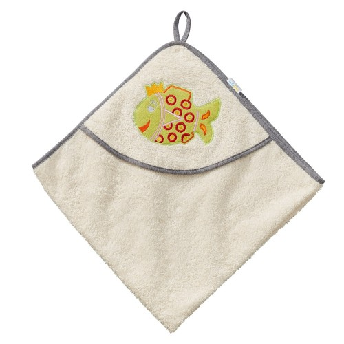 "early fish Hooded Bath Towel ""Princess Fish"" 75x75 cm"