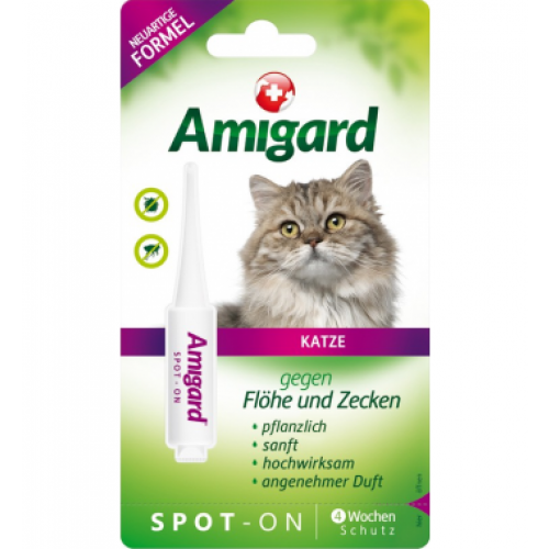 Amigard spot-on for Cats, natural flea & tick control