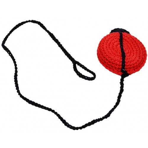 Crocheted Cat Toy MAYBUG with bell & cord | Unique Dog