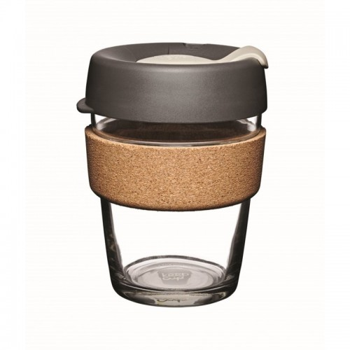 KeepCup Cork Press 12 oz - refillable cup made of glass with cork band