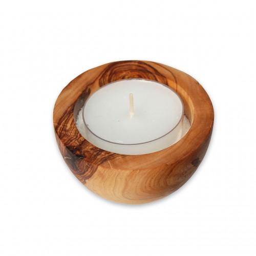 Tea Light Holder LUNA of Olive Wood | Olivenholz erleben