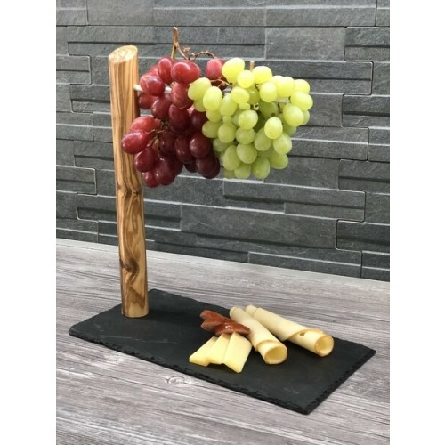 Slate Cheese Platter Snackeria with Wine Grape Holder » D.O.M.