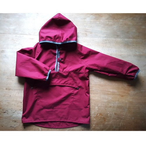 Pullover Windbreaker Rain Jacket berry, EtaProof Eco Cotton | Ulalue