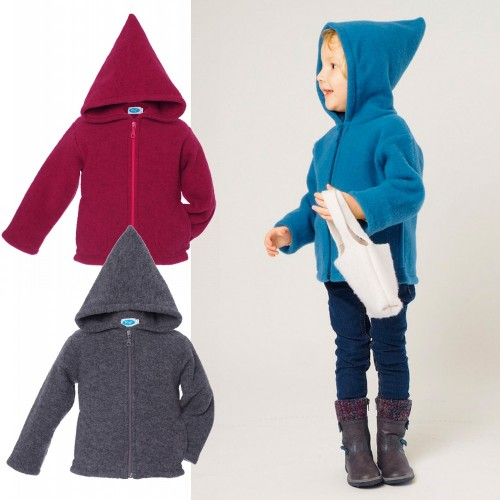 Eco fleece hoodie jacket - hooded coat for kids | Reiff