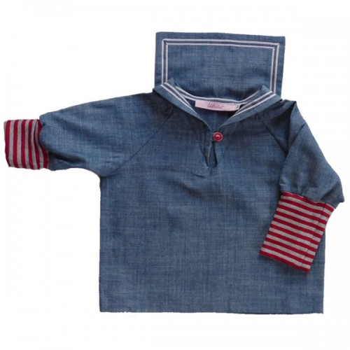 Kids Sailor Shirt, Jeans, GOTS organic cotton | Ulalue