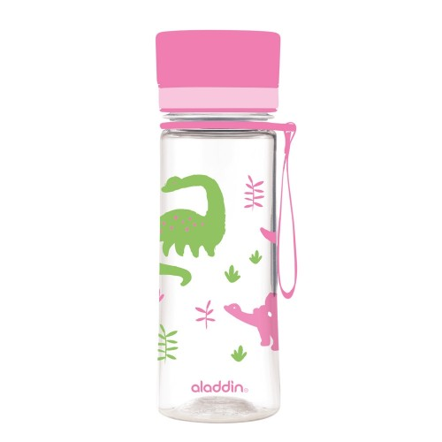 Aveo Water Bottle 0.35 L pink dinos by aladdin