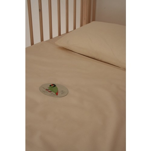 Organic Cotton Children Bedlinen with Parrot | iaio