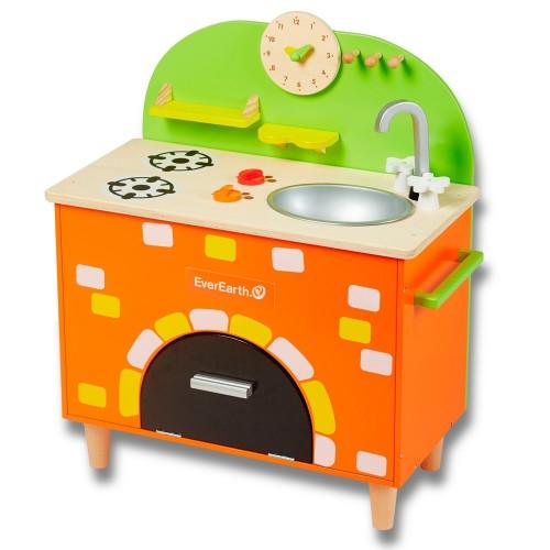 EverEarth® Children's Kitchen FSC® wood »Brick Oven«