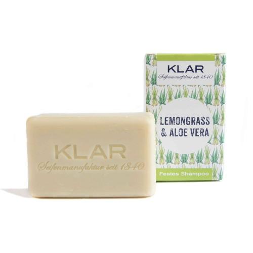 Festes Shampoo Lemongras & Aloe Vera   Klar Seifen
