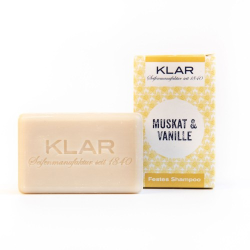 Solid Shampoo Nutmeg & Vanilla, vegan, normal hair | Klar Soap