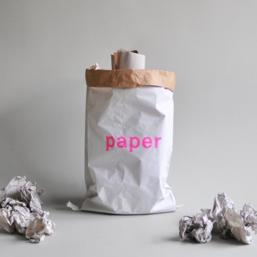 Recycled paper bag for collecting waste paper | kolor