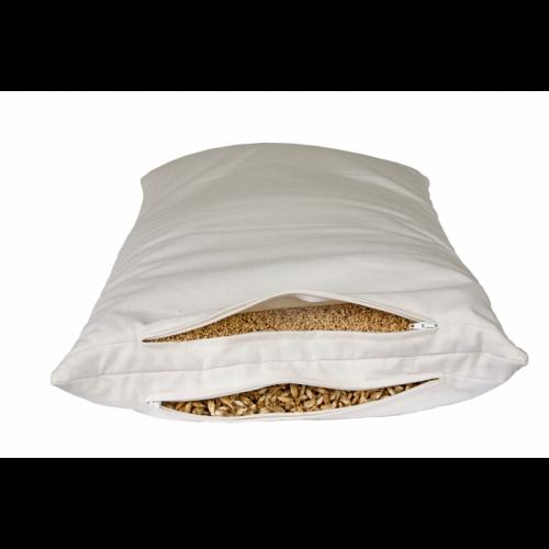 Combined 2-Chamber Pillow with organic spelt & millet husks | speltex