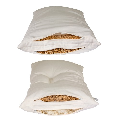 Combined 2-Chamber Pillow with organic fillings   speltex