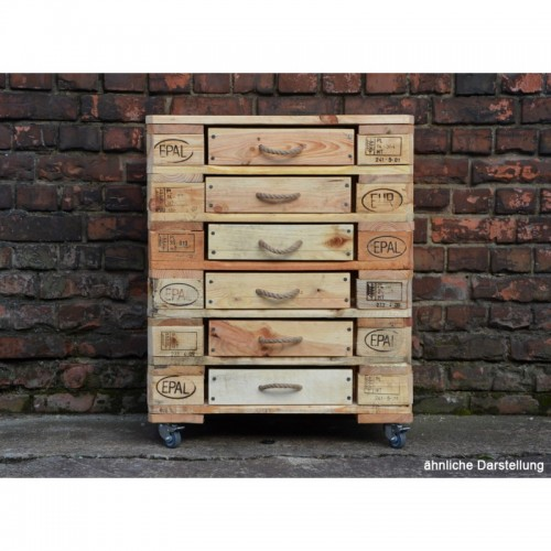 Chest of Drawers of Europallets with 6 drawers