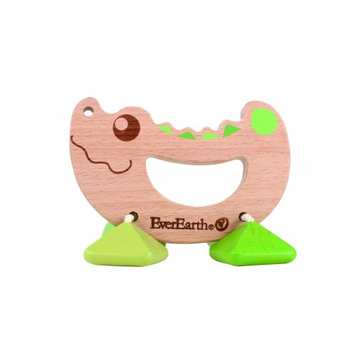 EverEarth Rattle & Grasping Toy »Crocodile« - FSC® Wood