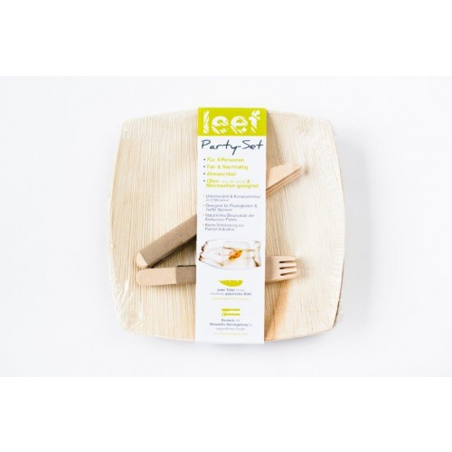 Eco Party-Set made out of Palm Leaf - organic tableware | Leef