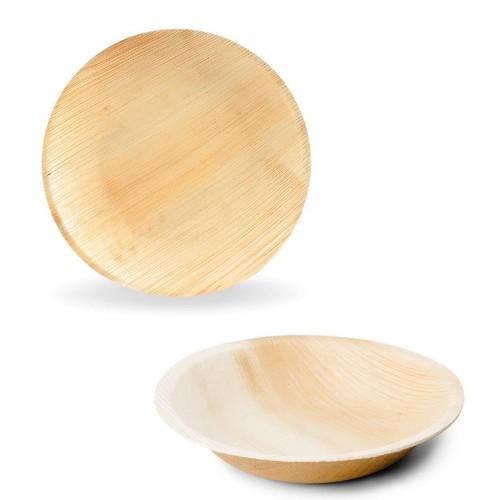 Round Leaf Plates, Leef compostable tableware - organic plates