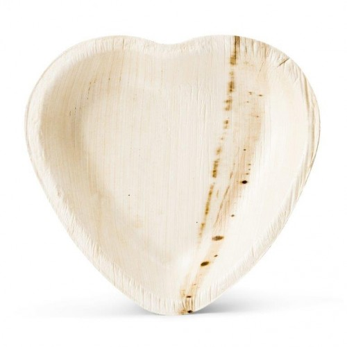 Palm Leaf Plate Heart Shape Signature Line | Leef