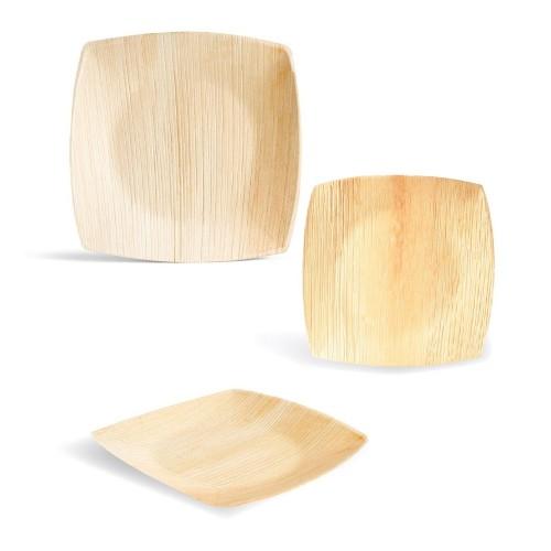 Leef Palm Leaf Plates Signature Line - square eco plates