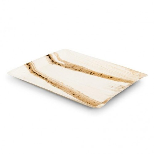 Palm Leaf Serving Plates, angular Signature Line | Leef
