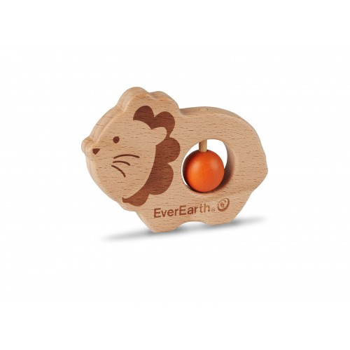 Lion baby grasping toy - EverEarth FSC® eco wooden toy